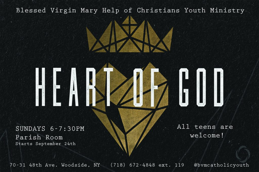 Heart of God English Postcard 2017