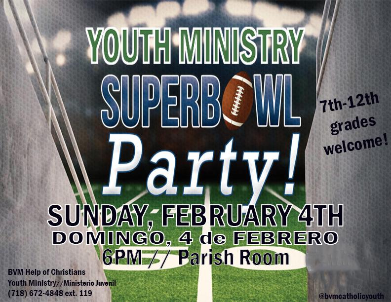 Superbowl Party 2018 Color Flyer